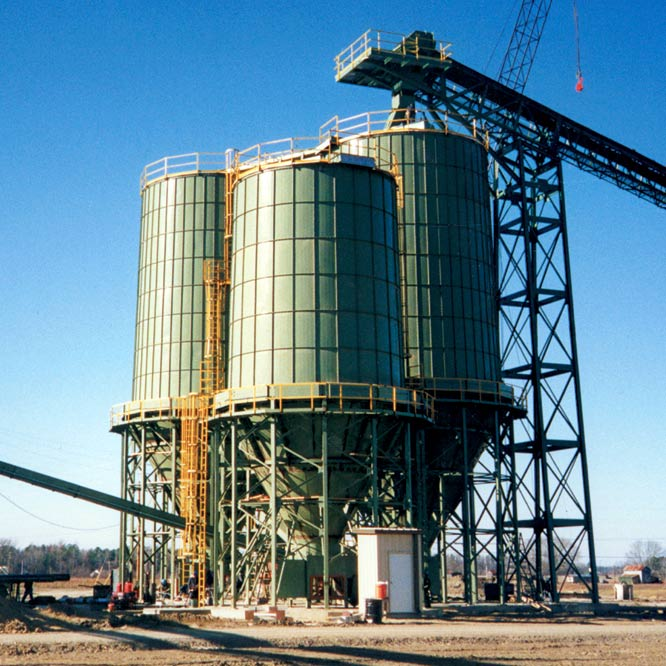 Biomass Fuel Storage Bins - Silo