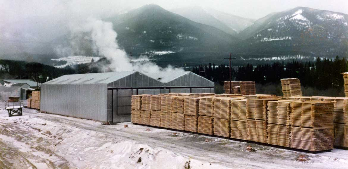 Wellons Track Loading Lumber Dry Kilns